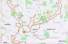 Dieser Radfahrer ist 9 Stunden lang durch London gefahren, um das Bild eines Rentiers auf der Karte zu erstellen