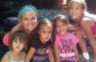 Uma mulher adota as 4 filhas de sua amiga morta por causa de um tumor no cérebro