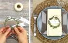 Il metodo rapido ed economico per realizzare deliziosi segnaposto con ramoscelli di rosmarino