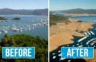 Deze hartverscheurende beelden vergelijken onze planeet voor en na de klimaatverandering