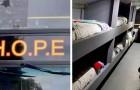Een chauffeur veranderde een Engelse bus in een opvangcentrum voor daklozen