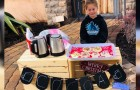 This 5-year-old girl sells hot chocolate and cookies to pay her classmates' canteen debts