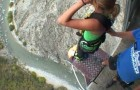 Bungee jumping a Nevis