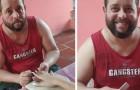 Deze man heeft zijn baan als bewaker opgezegd om zich te wijden aan de manicure en tegen zijn depressie te vechten