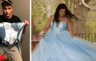 She cannot afford to buy a prom dress, so her best friend creates a fairytale one for her