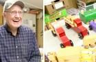 Há mais de 50 Natais este homem de 80 anos faz brinquedos de madeira para as crianças mais pobres