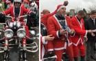 Migliaia di motociclisti vestiti da Babbo Natale hanno portato 5000 giocattoli ai bimbi di un ospedale pediatrico