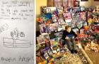 Grazie a un volantino, questo bimbo di 8 anni ha raccolto 165 regali di Natale da donare ai bisognosi
