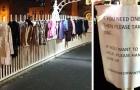 Cappotti e abiti caldi appesi su un ponte a Dublino: l'iniziativa per riscaldare l'inverno dei senzatetto
