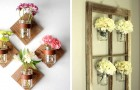 24 modi originali e creativi per decorare le pareti riutilizzando i barattoli di vetro