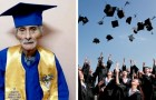 Een 90-jarige man slaagt erin om het diploma van het lyceum te behalen en zijn levensdroom te vervullen