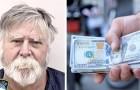 Deze man beroofde een bank en besloot toen om het gestolen geld aan voorbijgangers uit te delen