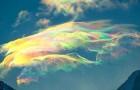 Ce photographe russe parvient à immortaliser le rare et merveilleux phénomène des nuages iridescents