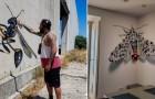 Questo artista di strada ha realizzato una serie di murales dal sorprendente effetto tridimensionale