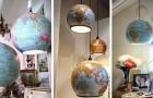 Trasformare vecchi mappamondi in bellissimi lampadari: l'idea originale per arredare in modo creativo