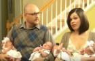 Não conseguiam ter filhos e no fim acabaram com dois casais de gêmeos: duas meninas e dois meninos