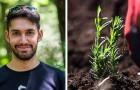 Dieser junge Mann hat sich als Abschlussgeschenk ein Stück Land gewünscht, auf dem er Gewürze und Kräuter anbauen könnte