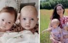 Uma mulher teve gêmeas muito especiais: uma delas tem síndrome de Down