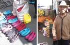 Nessuno compra le scarpe tessute dall'anziano, ma dopo un post su Twitter tutti corrono ad acquistarle