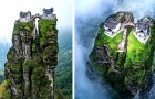 Ces deux temples bouddhistes suspendus entre la terre et le ciel sont le lieu parfait pour se retrouver soi-même
