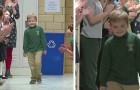 He is in permanent remission after three years of treatments for leukemia | His classmates applaud and celebrate