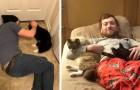 18 foto di uomini che avevano detto di non volere assolutamente un gatto in casa