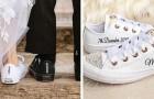 Sempre più spose scelgono di non indossare i tacchi al matrimonio: al loro posto sneakers comode ed eleganti