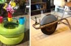 14 soluzioni ingegnose per realizzare stravaganti tavolini da salotto riciclando di tutto