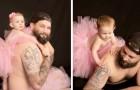 Questa fotografa immortala padre e figlia indossare un tutù rosa per abbattere ogni pregiudizio di genere