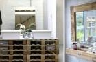 Arredare il bagno in stile rustico: 17 fra le idee migliori per rinnovare i mobili con il legno dei pallet