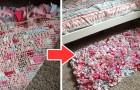 Il metodo semplice e veloce per realizzare un tappetino fai-da-te con semplici ritagli di stoffa