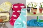 9 trovate ingegnose per riciclare i vecchi calzini e riutilizzarli in modo creativo