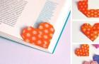 Il metodo semplice e veloce per realizzare un segnalibro-origami a forma di cuore da regalare a San Valentino