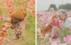 Een jongen slaagde erin om de prachtige vriendschap tussen zijn oma en zijn hond op foto's vast te leggen