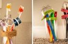 10 oggetti utili e originali da realizzare riciclando bottiglie e flaconi di plastica