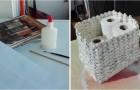 Il tutorial passo dopo passo per creare un cestino bello e resistente usando dei semplici fogli di giornale