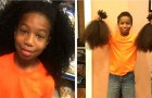 This young boy grew out his hair for two years in order to donate it to sick children suffering from cancer