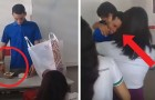 This teacher who had not been paid for months was sleeping inside the school and his students help him with a donation