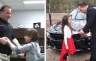 Questo poliziotto ha portato al ballo padre-figlia una bimba di 8 anni che aveva perso il papà