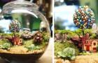 Questo artista ricrea piccoli mondi naturali e autosufficienti all'interno di bottiglie e ampolle di vetro