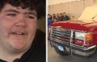 La madre le dice que vendió el auto antiguo del padre muerto, pero en realidad lo hace restaurar para luego dárselo