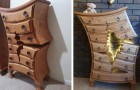 Un falegname in pensione costruisce mobili
