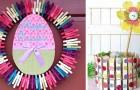 10 decorazioni per Pasqua semplici e colorate da realizzare con le mollette da bucato