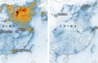 NASA-satellieten wijzen op de drastische vermindering van stikstofdioxide in China sinds het uitbreken van het coronavirus
