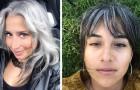Vrouwen die ervoor hebben gekozen om hun haar niet meer te verven en trots hun grijze haren tonen