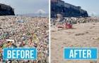 Diese vergleichenden Bilder zeigen, wie sehr sich alles in sehr kurzer Zeit ändern kann