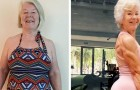 Esta senhora de 73 anos estava acima do peso, mas seguindo as aulas de yoga da filha conseguiu perder mais de 50 kg