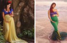 Un photographe fait le portrait de futures mamans comme des princesses Disney exhibant fièrement leur gros ventre