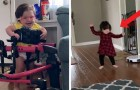 After 4 surgeries, a child with cerebral palsy makes her first steps in spite of all odds against her