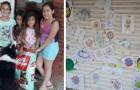 5 meninas decidem vender os próprios desenhos para comprar comida para os cachorros de rua do seu bairro